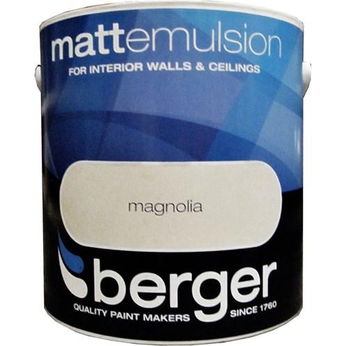Berger Matt Emulsion Magnolia Paint - 2 5 Litre | Coloured Emulsions