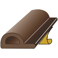 Exitex  Brown P Strip Draught Excluder - 5m