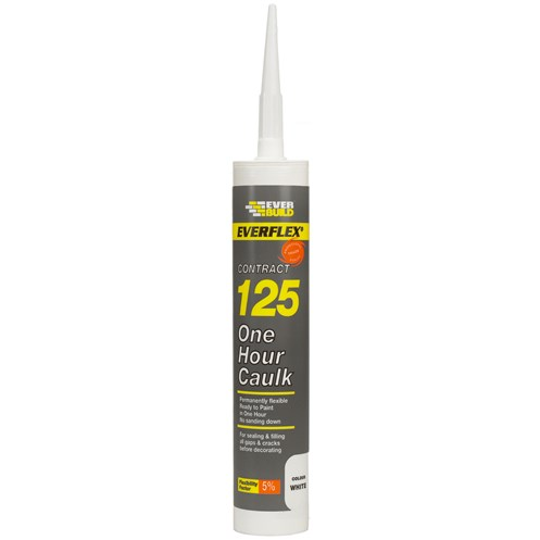 Everbuild  125 One Hour Caulk 310ml - White