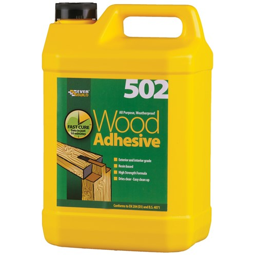 Everbuild  All Purpose Wood Adhesive Bottle - 5 Litre