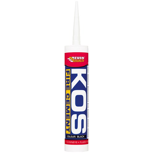 Everbuild Kos Fire Cement Cartridge 300ml - Black