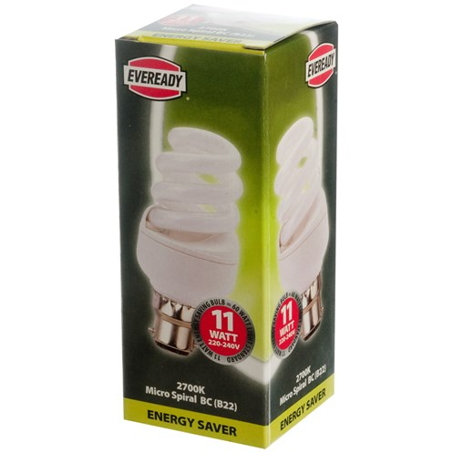 Eveready  CFL Micro Spiral Light Bulb - 11W BC