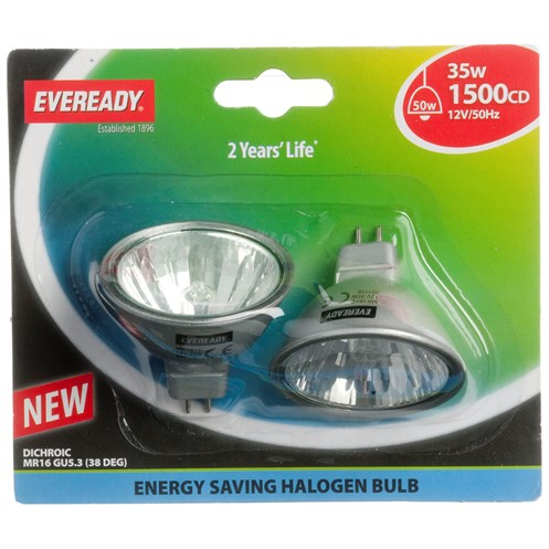 Eveready  Eco Halogen Light Bulb 35W MR16 - 2 Pack