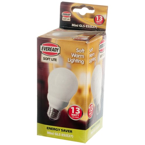 Eveready  CFL Mini GLS Soft Lite Light Bulb - 13W ES