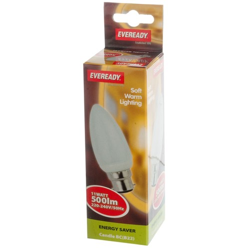 Eveready  CFL Mini Candle Soft Lite Light Bulb - 11W BC