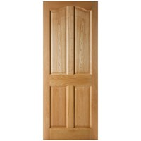 Seadec  Belfast Curved Top Prefinished Interior Oak Door - 813 x 2032 x 44mm