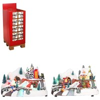 Luville  LED Battery Operated Snowy Village Scene 2 Assorted - 18.5cm